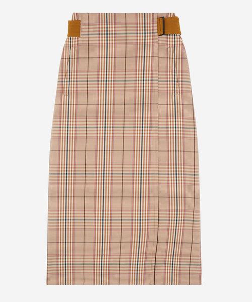Kitsune Wrap Skirt Rust Check