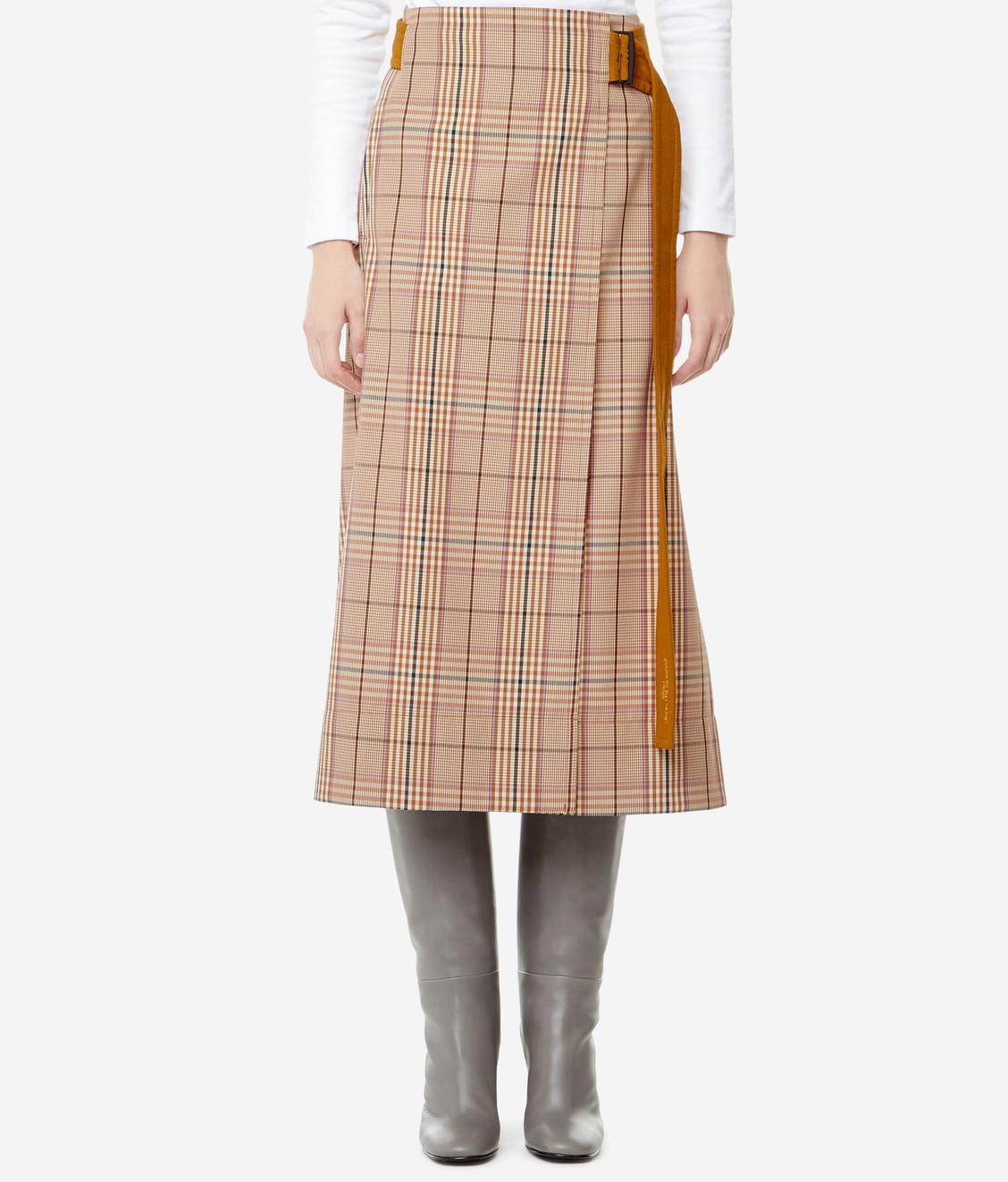 Maison Kitsune Kitsune Wrap Skirt Rust Check
