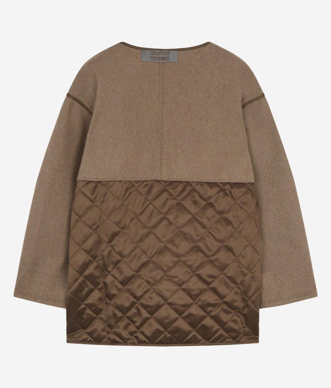 Maison Kitsune Kitsune Quilted Jacket Beige Brown