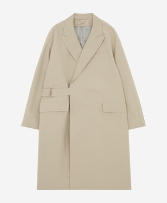 Maison Kitsune Kitsune Wrap Coat Beige