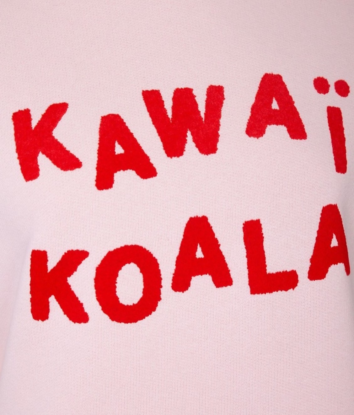 Etre Cecile Kawai Koala Boyfriend Sweatshirt Dusky Pink