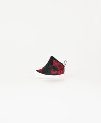 Nike Jordan 1 Black Varsity Red Kids Crib Bootie