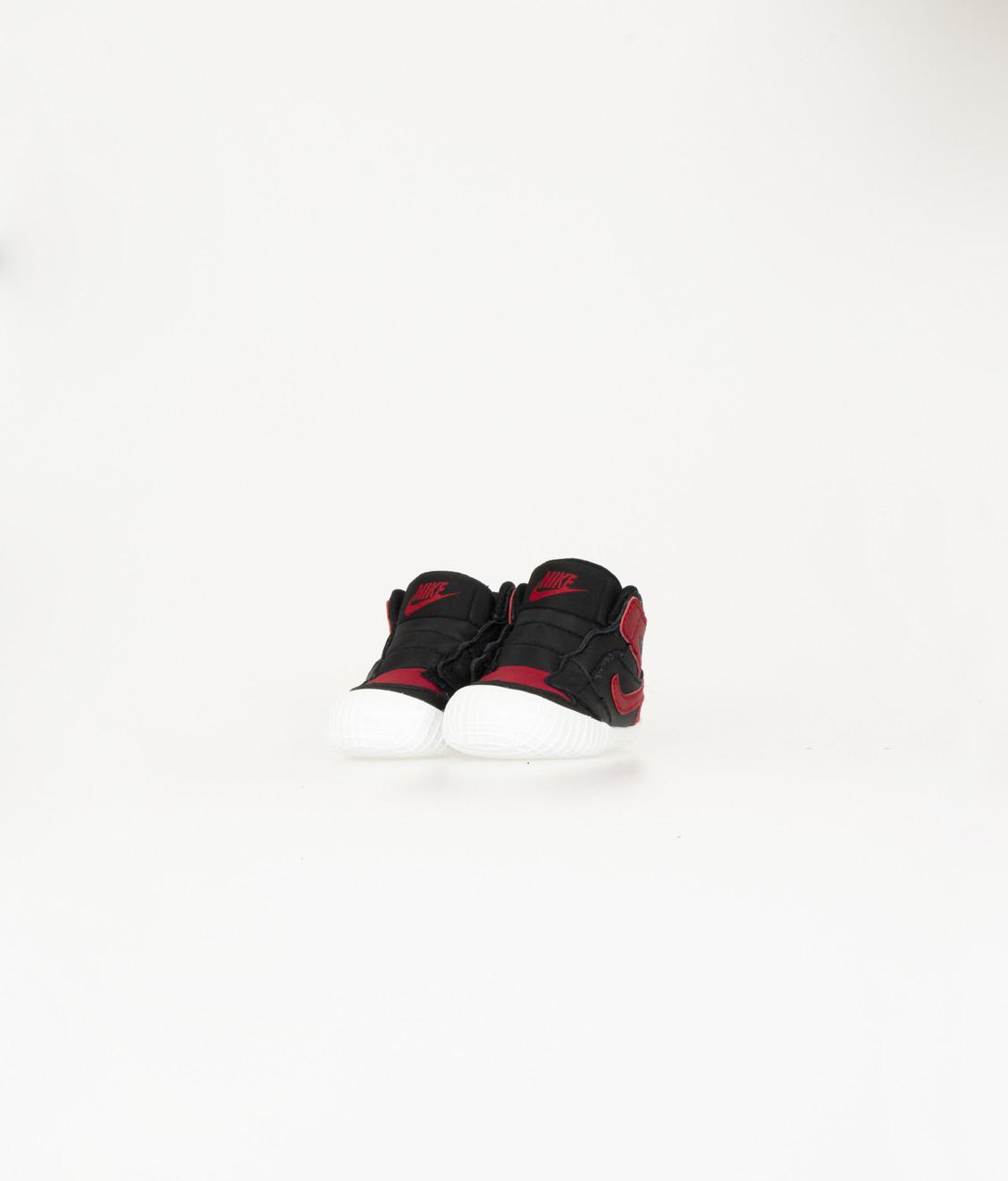 Nike Jordan 1 Black Varsity Red Crib Bootie