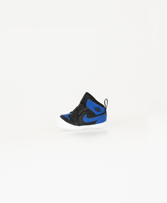 Nike Jordan 1 Black Varsity Royal Kids Crib Bootie
