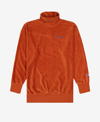 Champion Champion Corduroy Sweatshirt Orange