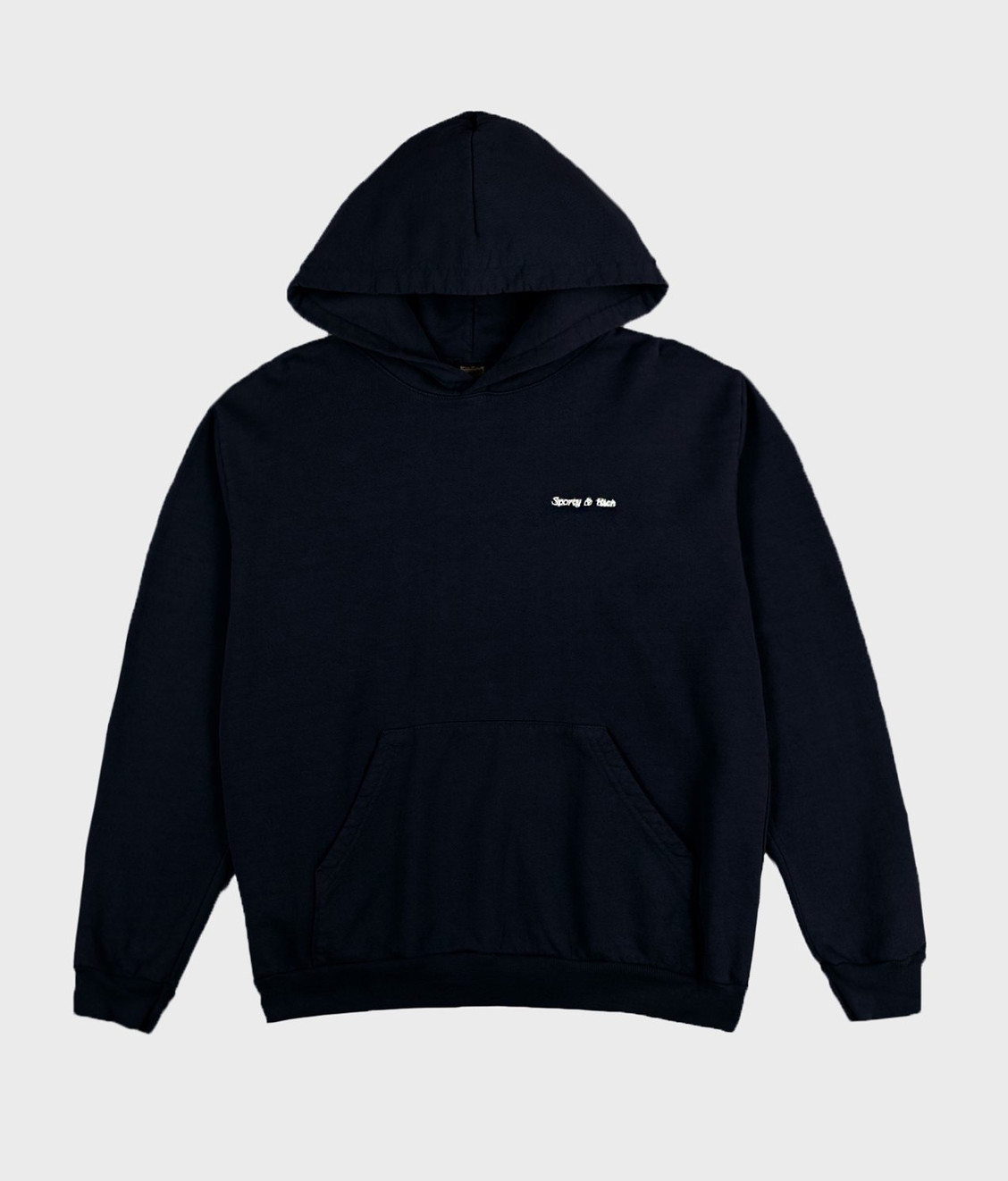 Sporty and Rich Sporty & Rich Classic Logo Hoodie Navy