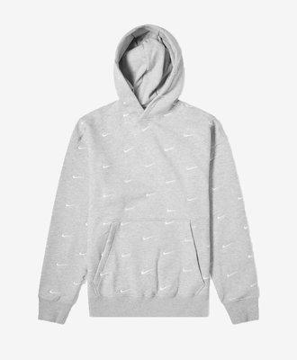 Nike Nike All Over Swoosh Hoodie Grey