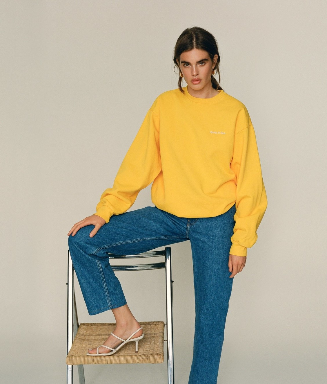 Sporty and Rich Sporty & Rich 14oz. Classic Sweat Sunflower