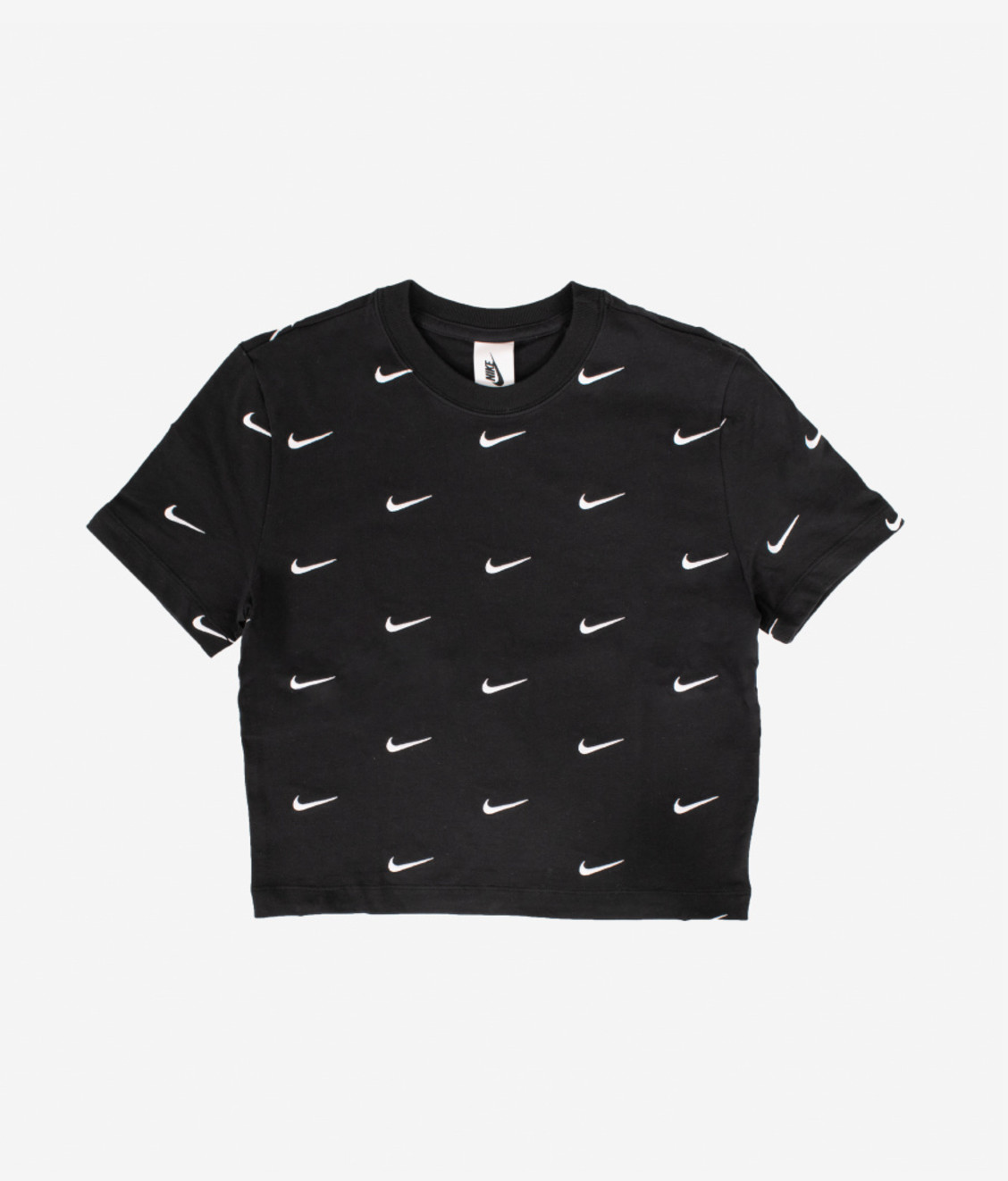 Nike Nike NRG All Over Swoosh Cropped Tee Black