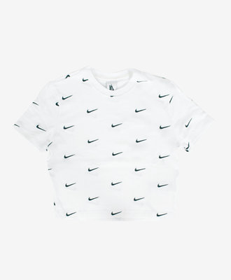Nike Nike NRG All Over Swoosh Cropped Tee White