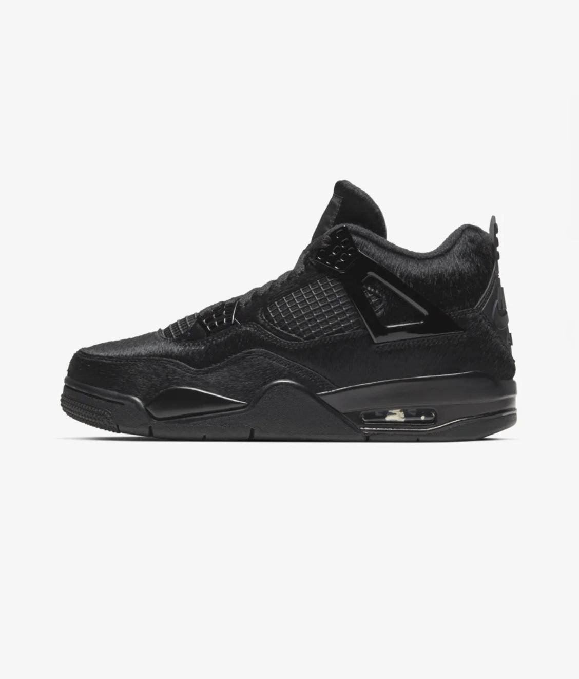 Nike Air Jordan IV X Olivia Kim Black Cat Ponyhair