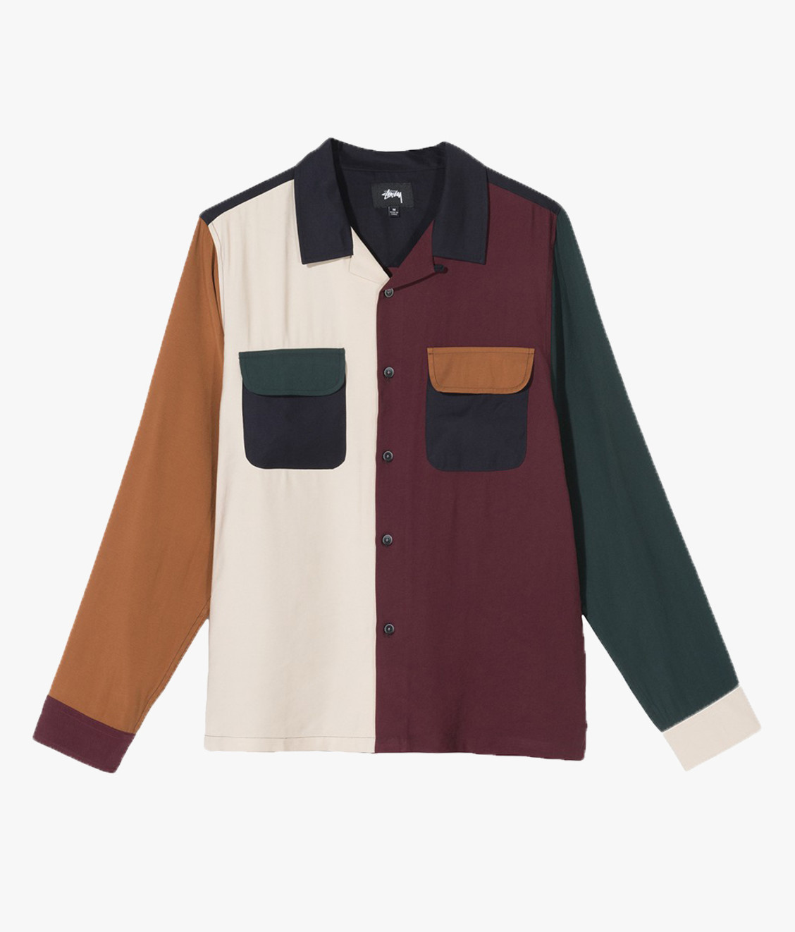 Stussy Stussy Color Block Rayon Shirt Multi