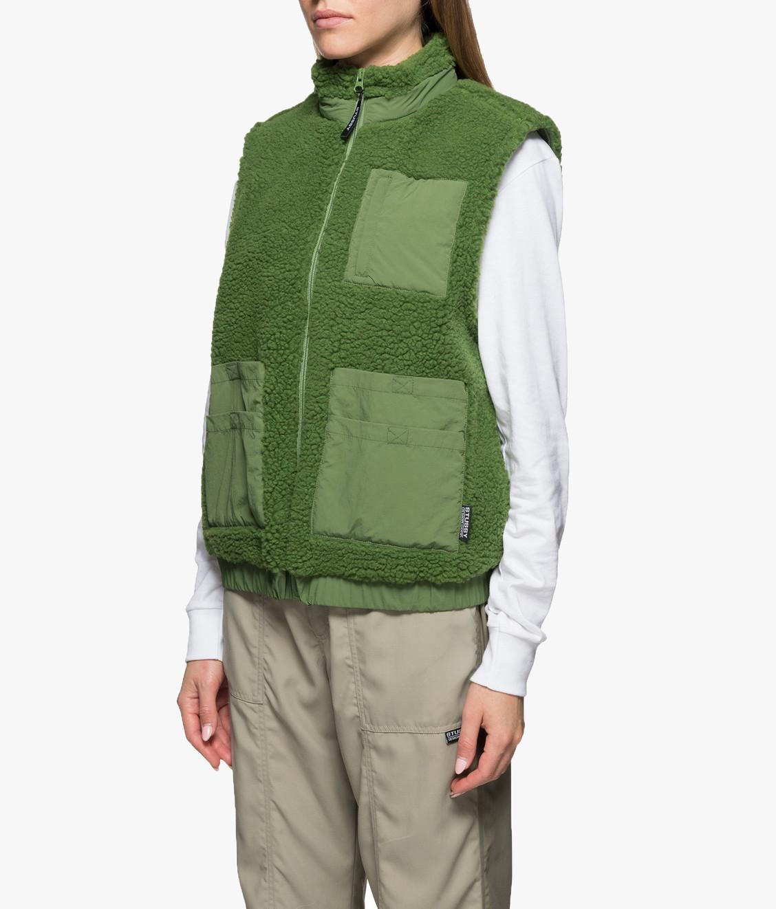 Stussy Stussy Convertible Sherpa Jacket Green