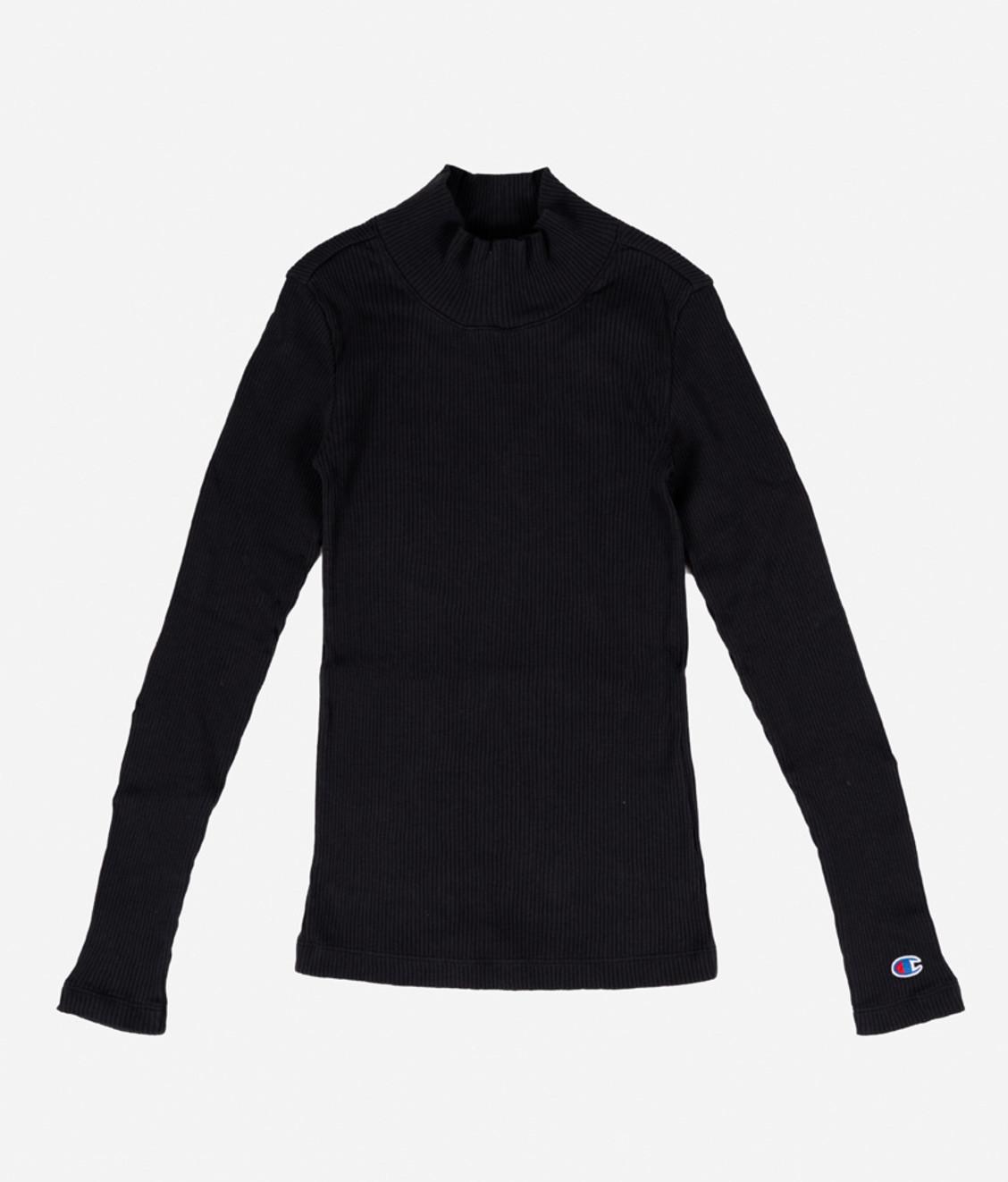 Champion Champion Turtle Neck Long Sleeves T-Shirt Black