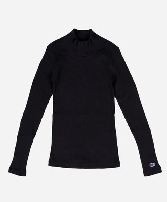 Champion Champion Turtle Neck Long Sleeves T-Shirt Black