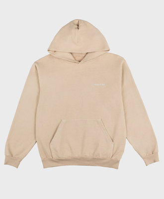 Sporty and Rich Sporty and Rich Classic Logo 14 oz. Hoodie Beige