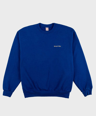 Sporty and Rich Sporty and Rich Classic Logo 14 oz. Crewneck Klein Blue