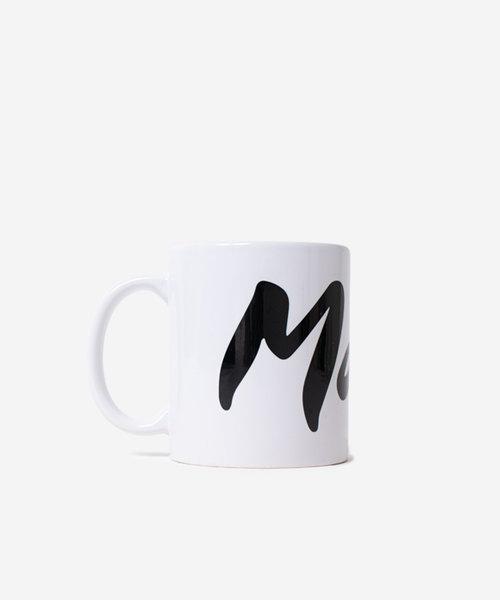 Maha Logo Mug White Black