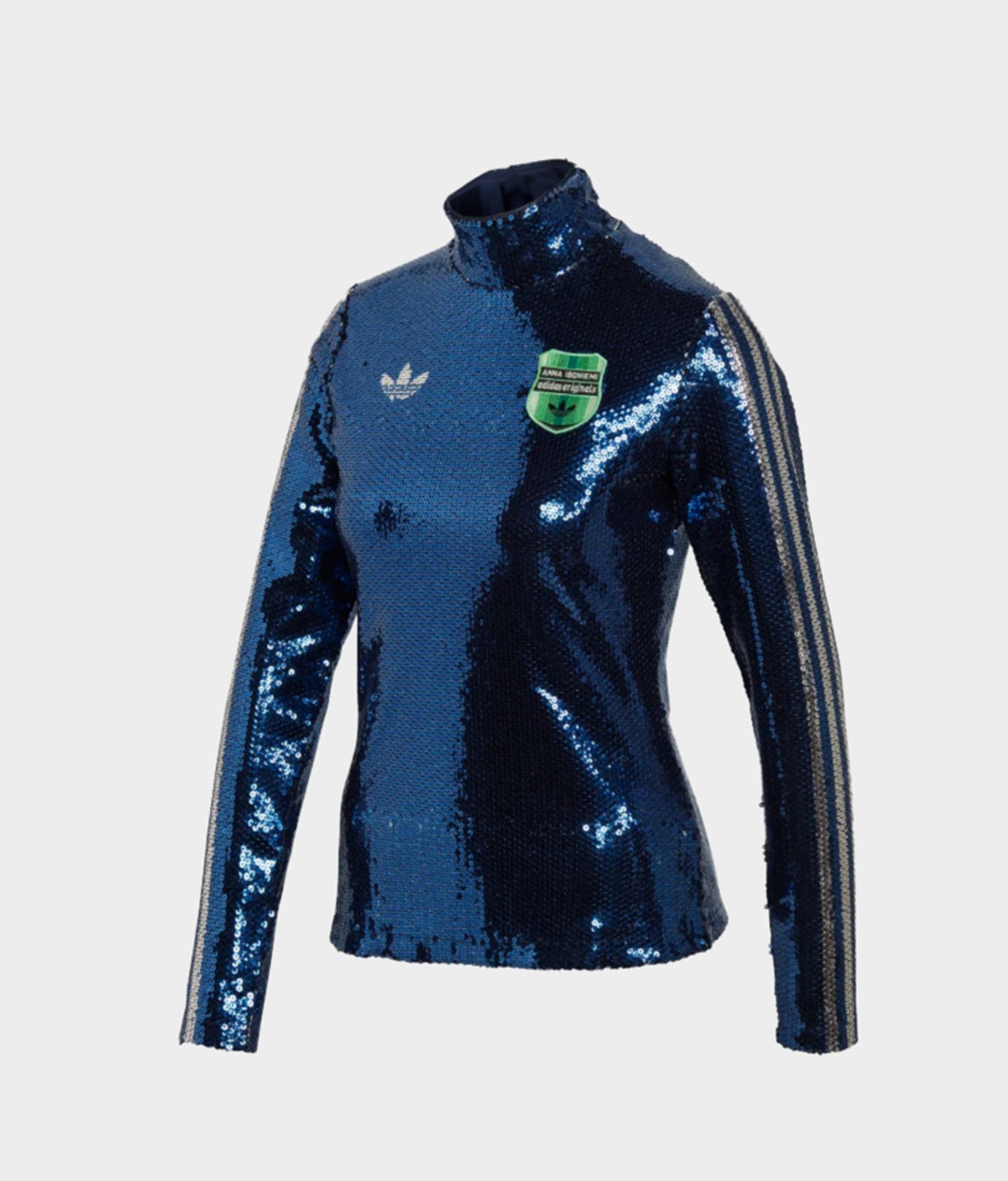 Adidas Adidas Sequin Turtleneck Blue