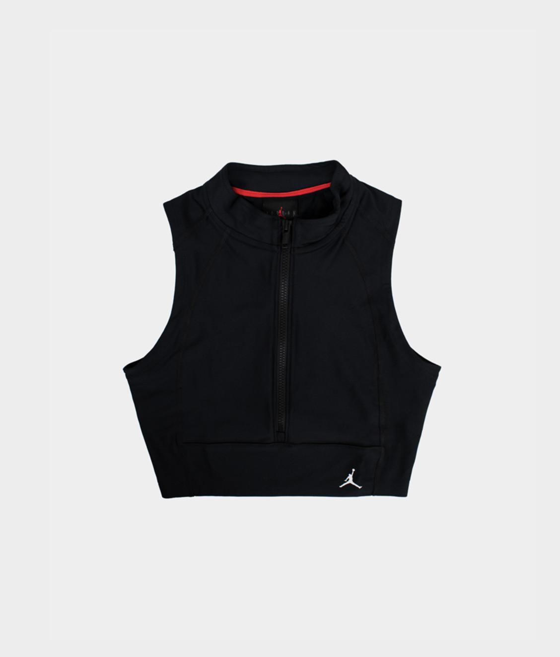 Nike Jordan Body Con Crop Top Black