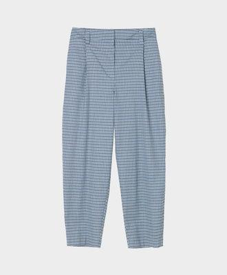 Libertine Libertine Libertine Repeat Trousers Light Blue Check