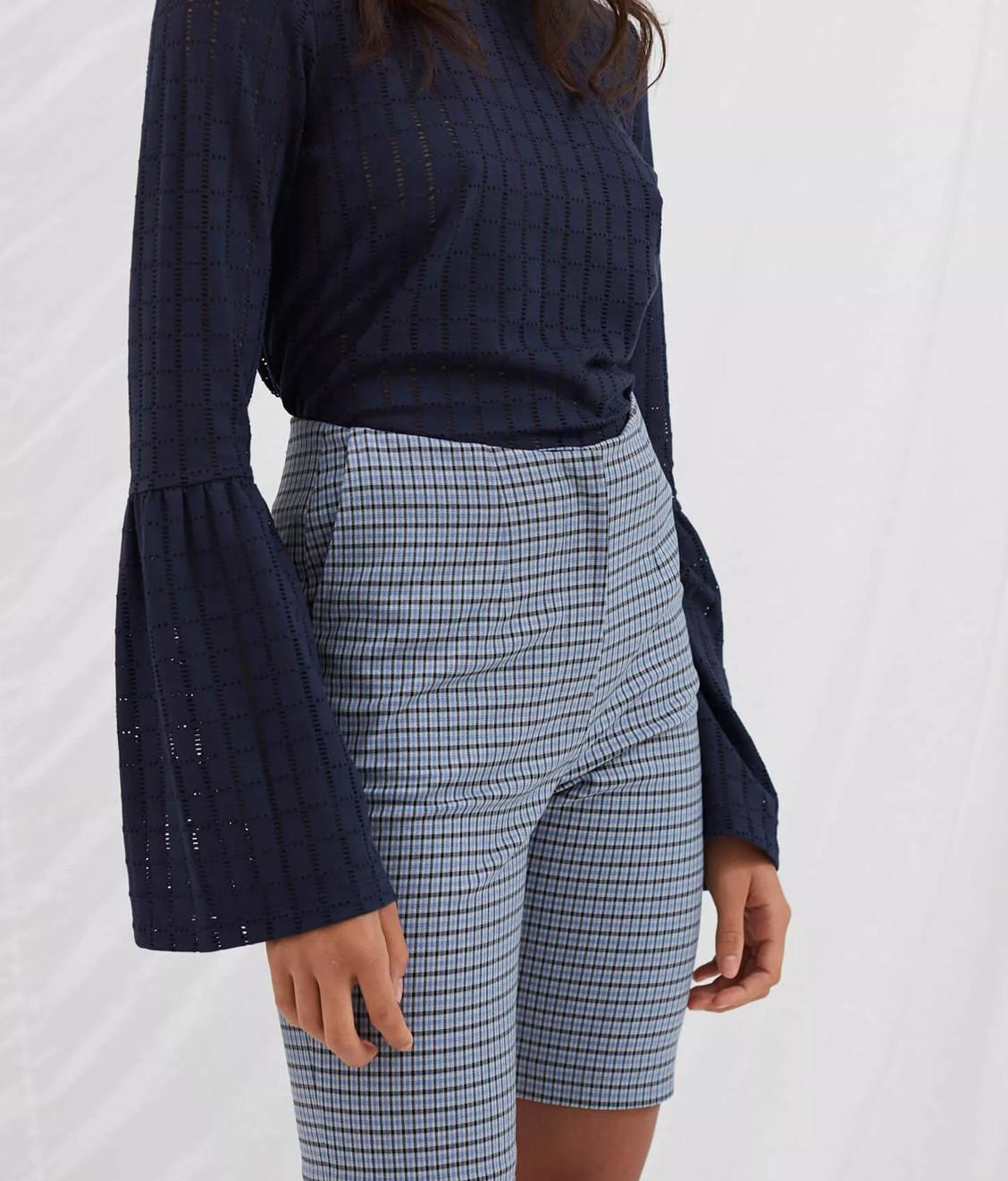 Libertine Libertine Libertine Flaunt Shorts Light Blue Check