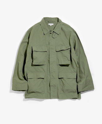 Engineered Garments E G BDU Jacket Olive Ripstop