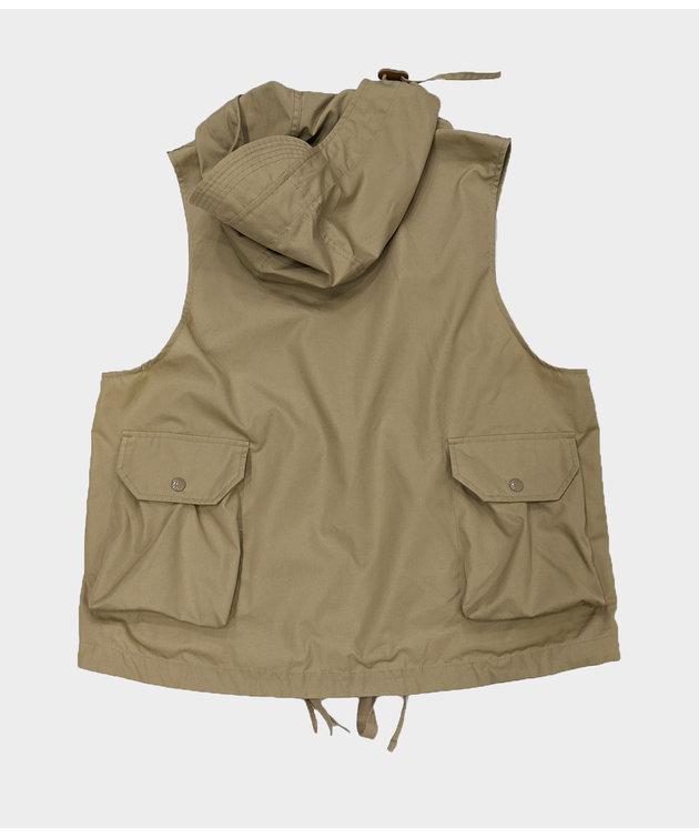 Engineered Garments Engineered Garments Field Vest Khaki PC Poplin