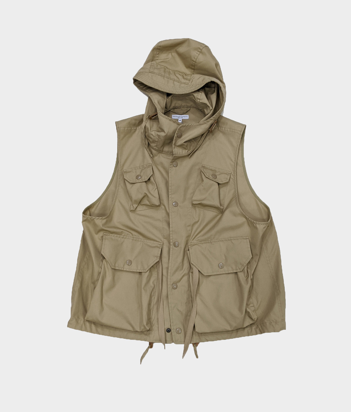 Engineered Garments Engineered Garments Field Vest Khaki PC Poplin