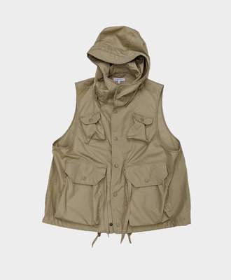 Engineered Garments E G Field Vest Khaki PC Poplin