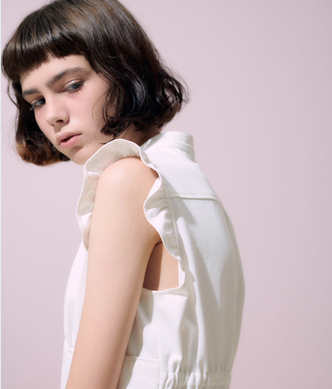 NEUL Neul Frilly Jumpsuit White