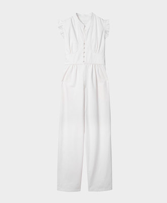 NEUL Neul Frilly Jumpsuit White