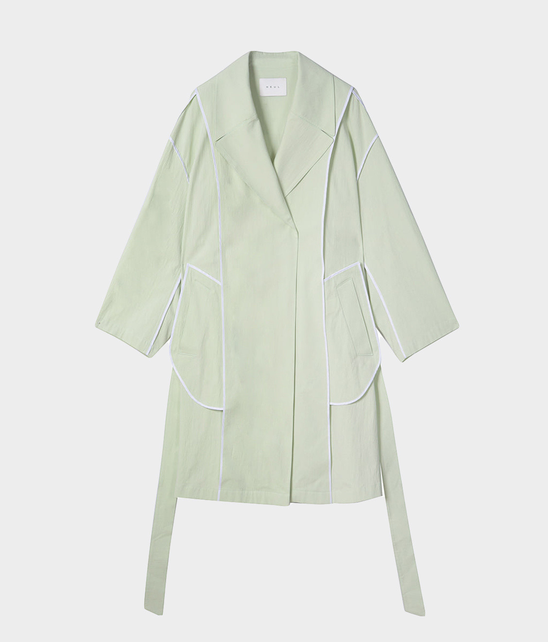 NEUL Neul Reverse Trench Coat Lime Cream