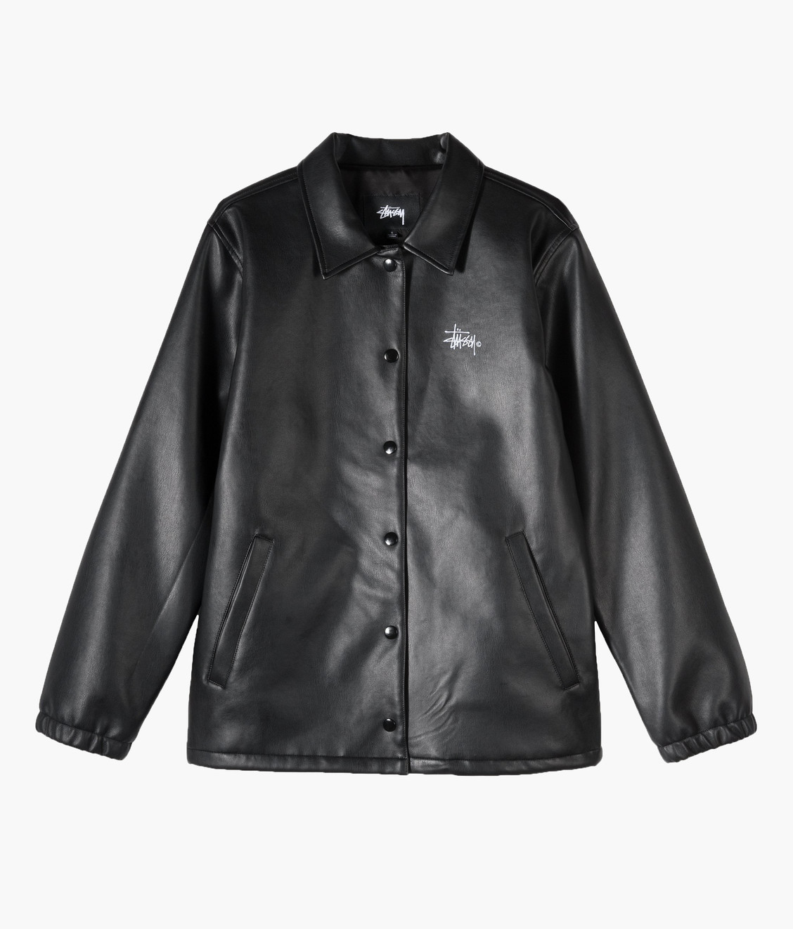 Stussy Stussy Pu Coach Jacket Black