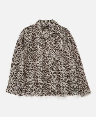 Needles Needles Cut-Off Bottom Classic Shirt Leopard Print