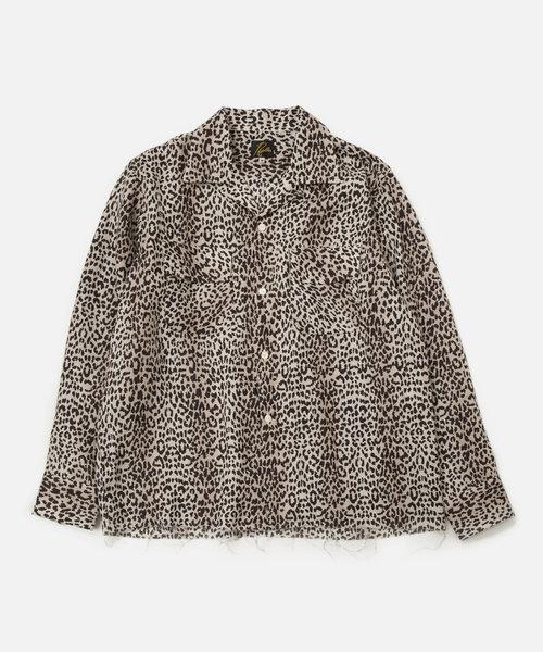 Needles Cut-Off Bottom Classic Shirt Leopard Print