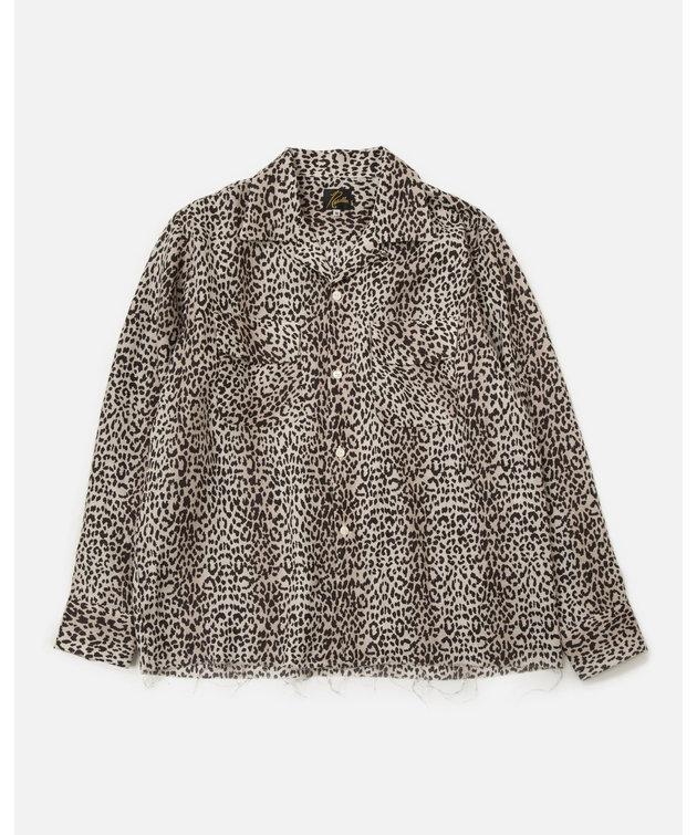 Needles Needles Cut-Off Bottom Classic Shirt Leopard Print