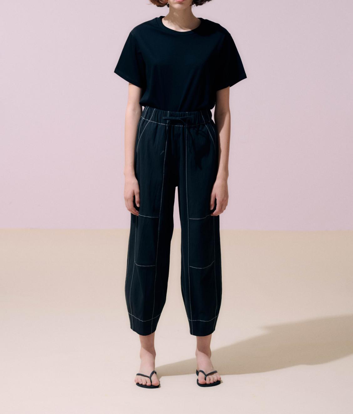 NEUL Neul Contrast Stitch Comfy Pants Black