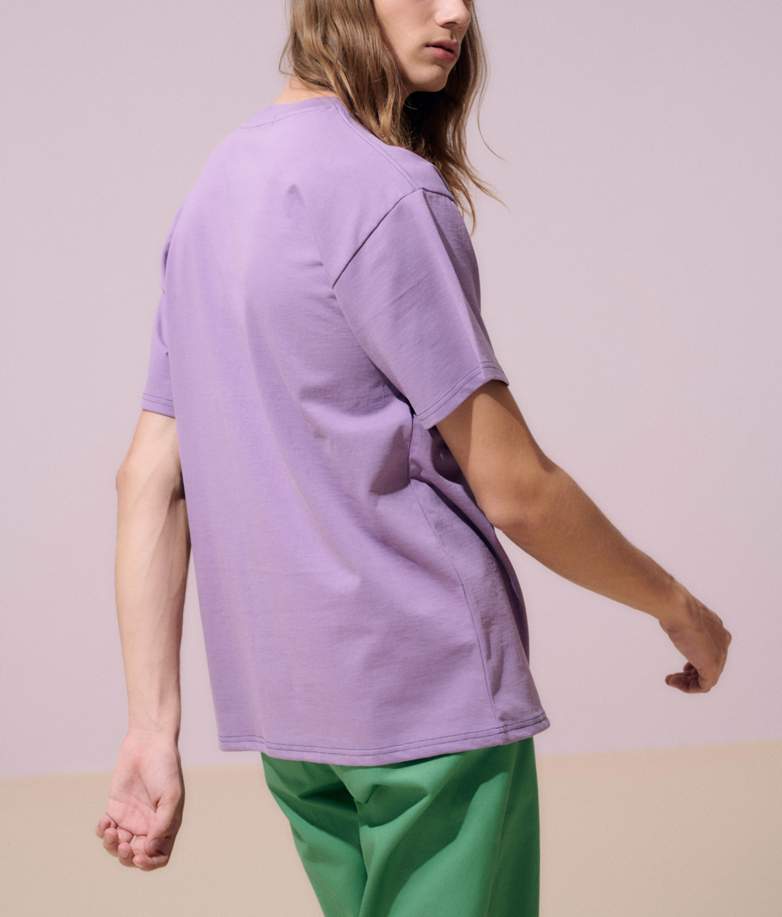 NEUL Neul Contrast Stitch T-shirt Very Grape
