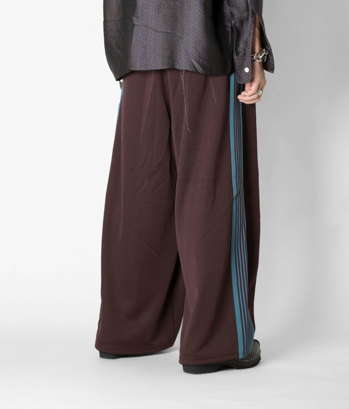 Needles Needles H.D Track Pant Poly Smooth Bordeaux