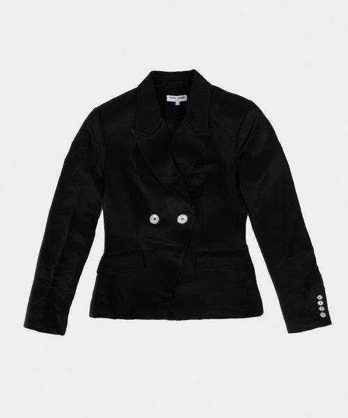 OC Satin Blazer Black