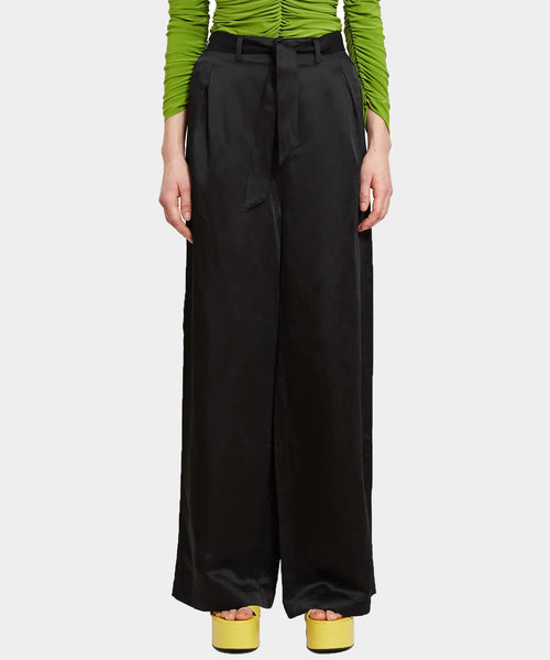 OC High Waisted Belted Pant Black