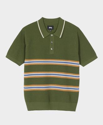 Stussy Stussy Montego Stripe Polo Green