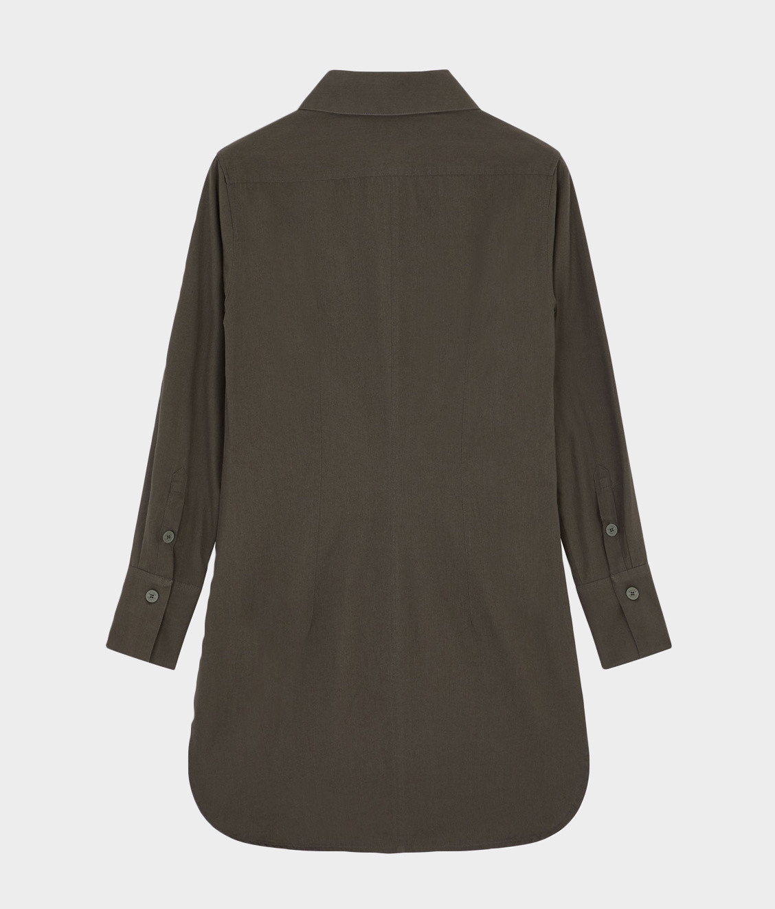 Maison Kitsune Maison Kitsune Fitted Shirt Dress Khaki