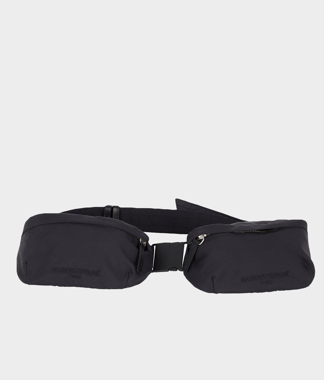 Maison Kitsune Maison Kitsune Double Beltbag Black