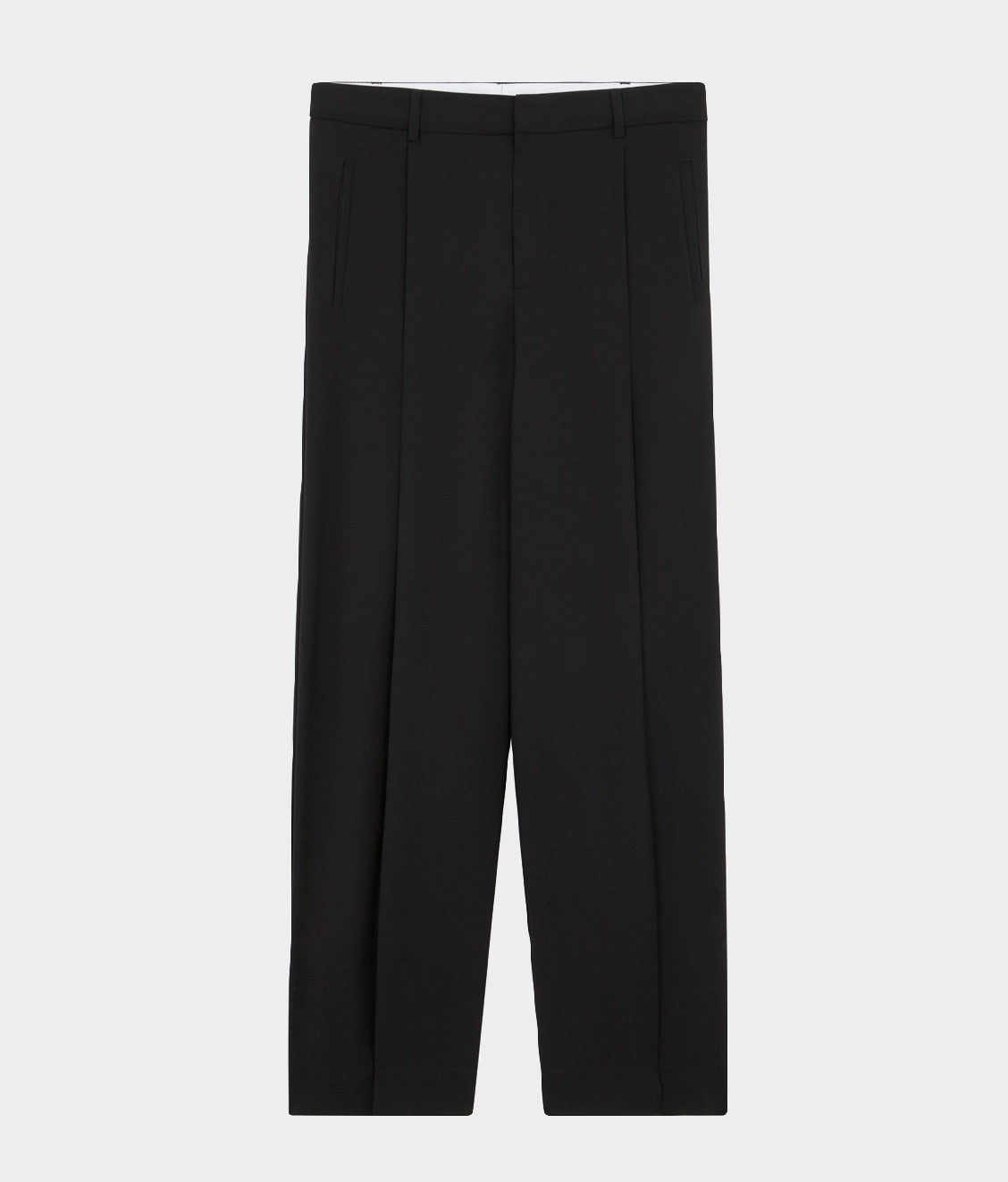 Maison Kitsune Maison Kitsune Single Pleated Pants Black
