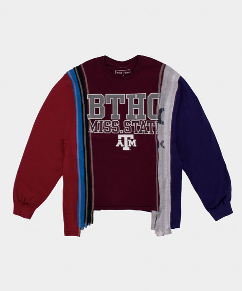 Rebuild by Needles 7 Cuts L/S Tee College