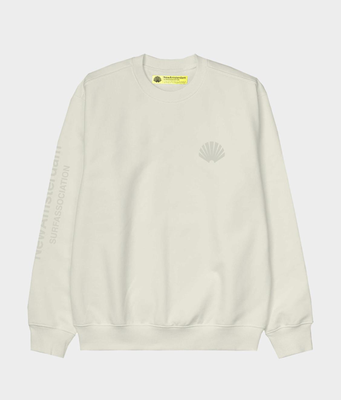 New Amsterdam New Amsterdam Logo Sweater Offwhite