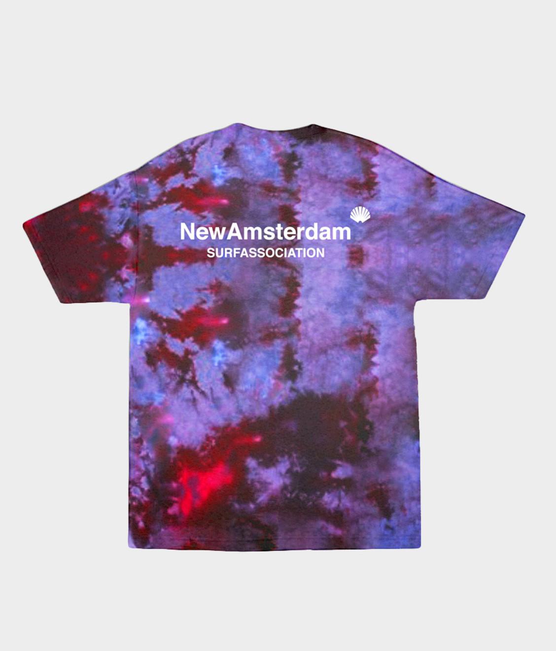 New Amsterdam New Amsterdam Logo Tee Tie Dye Purple
