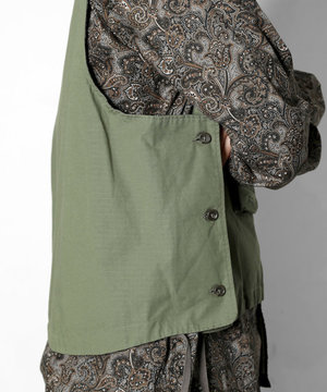 Engineered Garments Engineered Garments Cover Vest Olive Ripstop